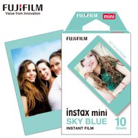 NUOVO 10 Fogli Fujifilm Fuji Instax Mini 8 Film cielo blu macchina fotografica Istantanea per 8 7 s 7 50 s 50i 90 25 dw Share SP-Macchina Fotografica Photo carta