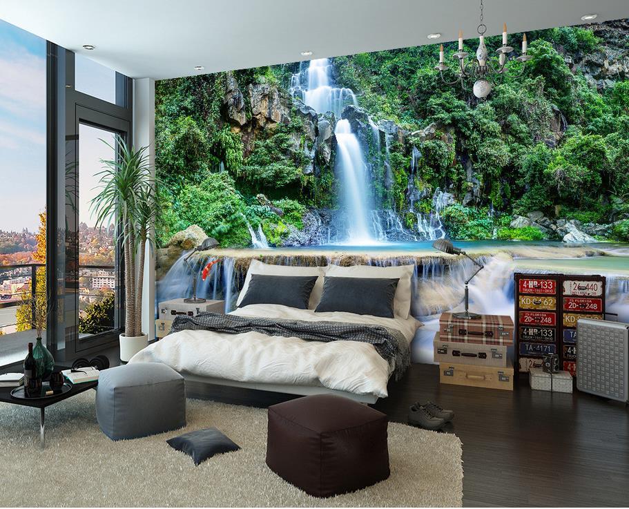 Fall Ceiling Wallpaper Hd 3d Bathroom Wallpaper Mountain Waterfall Water 3d Mural