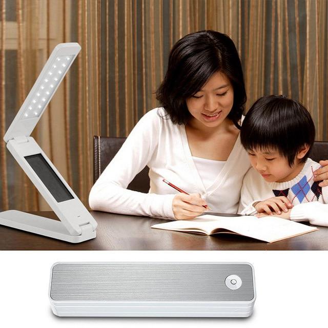 Multifunction Portable Folding LED Book Light Reading light Calendar Alarm Clock Temperature Mini Table lamp