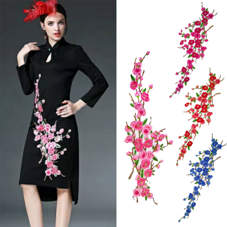 Garment Accessories Embroidery Cheongsam Paste Large Pieces Of Cloth Paste National Style Plum Blossom