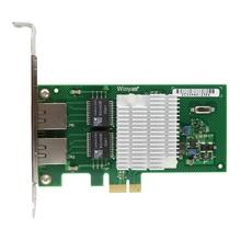PCIe X1 Dual Port Gigabit Ethernet Network Adapter Card 1000Mbps i350AM2 Chipset