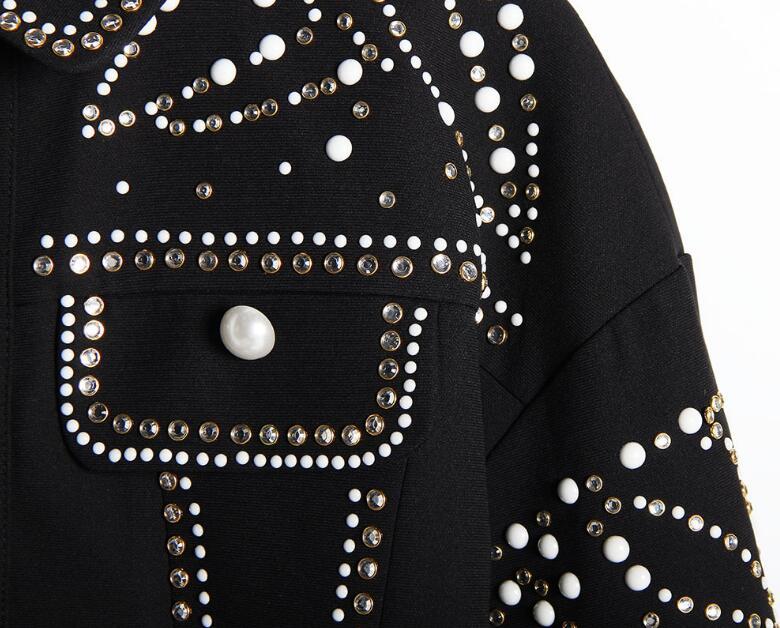 Veste Feuilles Et En Mode Femme Femmes Automne Céramique Nouvelle Tendance Des 1 Manteau 2018 Forage De Rue Chaude D'hiver Lourde L'industrie Tq65wY0