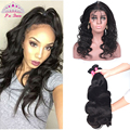 Pre Plucked Malaysian 360 Lace Frontal With Bundle Body Wave  4PCS Malaysian Virgin Hair 360 Lace Frontal Bundle with Baby Hair