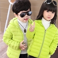 2017 Casual Winter Jacket Girl Boy White Duck Down Jacket Girl Ultralight Down Jacket Boy Hooded Coat Outdoors Kids Winter Parka