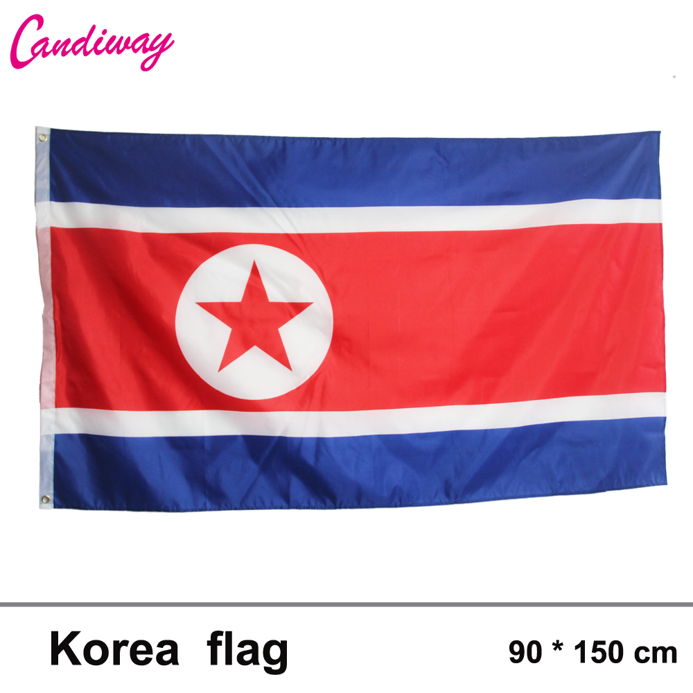 North Korea Country Flag 3 x 5 foots International Banner Office/Activity/parade/Festiva ...