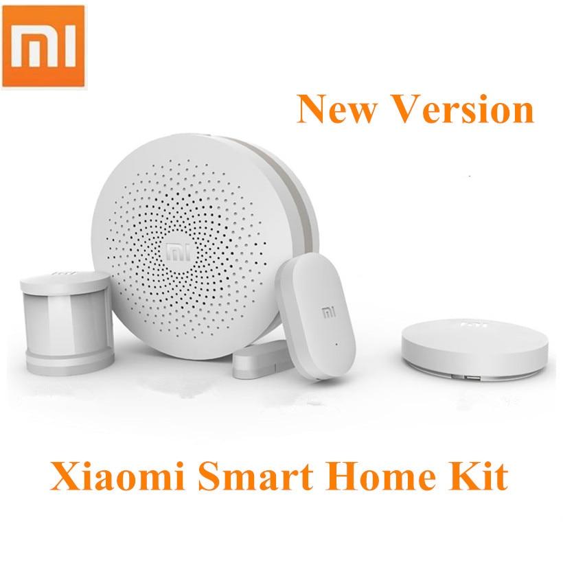 2017 newest xiaomi smart home kit multifunctional gateway door window sensor human body sensor. Black Bedroom Furniture Sets. Home Design Ideas