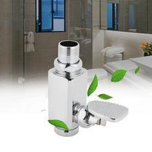 Ручной вакуумный пакет промывные клапаны общая канализация Клапан металлический отель писсуарный кран Туалет табурет промывки клапаны