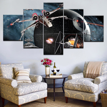 Printed HD Paintings Modular Posters Home Decor Modern 5 Panel Star Wars Movie Spaceship Wall Art Canvas Picture Artwork