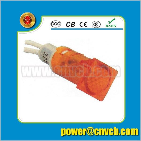 ZS93 12.5mm high light plastic 220v pilot light neon signal indicator light 12 volt