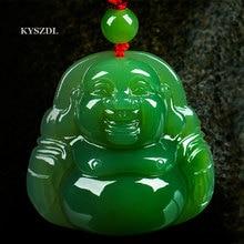 Free shipping natural jade Hotan Buddha pendant Maitreya