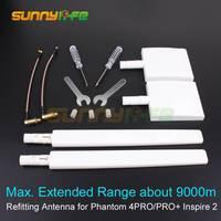 Comparar Controlador remoto DIY Kit de antena de reposición 2,4G 5,8G extensor de rango de antena para DJI Phantom 4 PRO/4 PRO + V2.0 Inspire 2