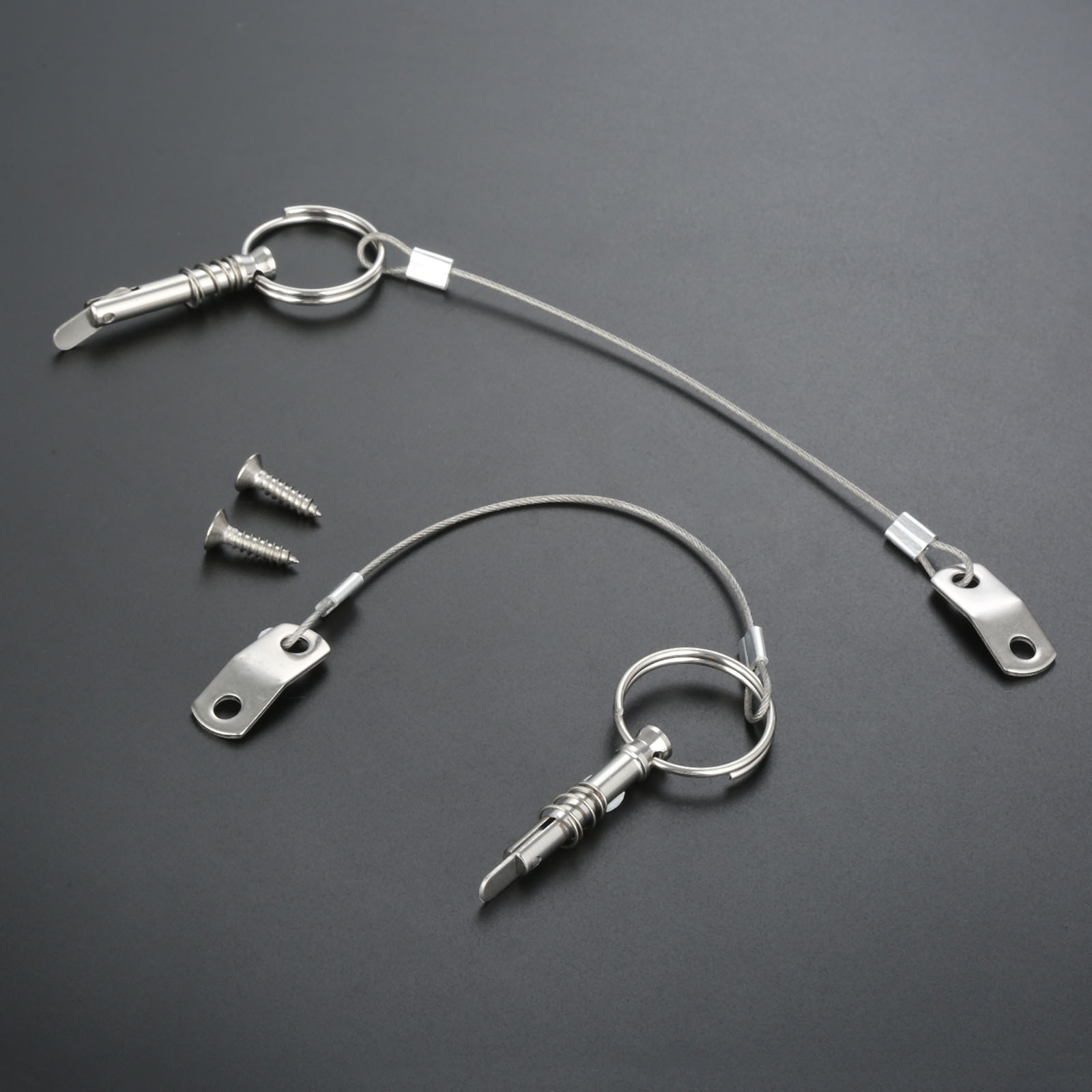 2 x Quick Release Pin with Lanyard Deck Hinge Boat Lanyard Ship Building Parts