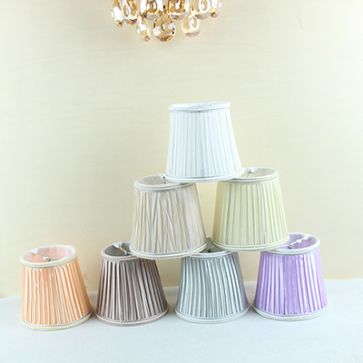Modern Light Lamps With Fabric Lamp Shades Chandelier Mini Handmade