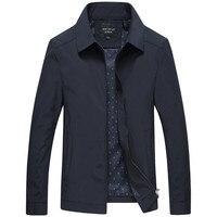 Демисезонный Для мужчин s модная университетская куртка Качество сплошной черный мужской ветровки Высококачественная брендовая одежда Дл...