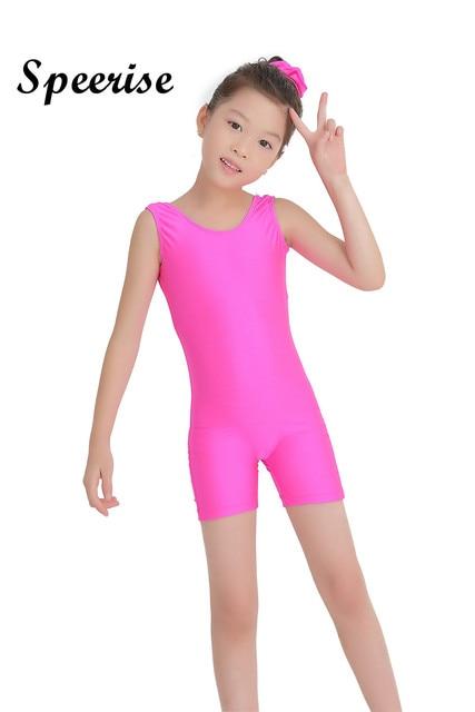 d36ac93f6 Child Tank Biketard Spandex Kids Unitard Girls Gymnastics Leotard ...