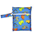 Baby Waterproof Cloth Diaper Bag Single Pocket Zipper Print Reusable Baby Nappies Bags Wet Dry Bag Wetbag Bolsa Maternida 16x20