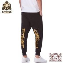 Genuine Evisu Violent Bear Print Warm Breathable Mens Pants Wild Cotton Fashion Sports And Leisure 710