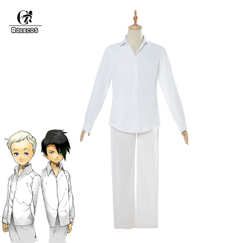 ROLECOS Anime The Promised Neverland Cosplay Costume Norman Ray Cosplay Costume Yakusoku no Neverland Uniform Men Shirt Pants