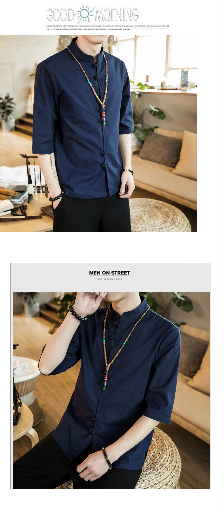 Chinese style summer fashion man's Pure color linen Short sleeve shirt high-grade male comfortable slim fit leisure shirt M-5XL 50