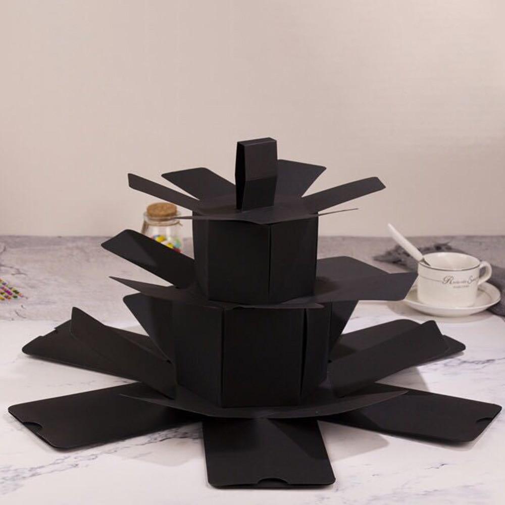 Creative Black Explosion Gift Box Love Memory Multi Layer
