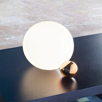 Стекло лампа прикроватная пост современный Гостиная Art Спальня Гостиная дизайнер декоративная настольная лампа