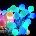Multicolor bola de LED Luzes Da Corda Interior 10 M 100led LED Guirlandas De Natal Do Casamento Do Feriado Luz da Corda Iluminação Lanterna 110 V 220 V