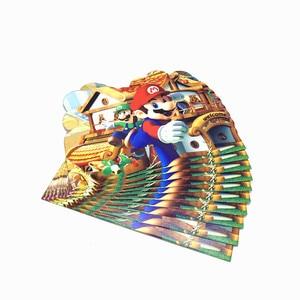 Image 5 - Mario Bros Party Wegwerp Servies Wegwerp Set Papier Plaat Servet Cup Uitnodigingskaart Super Mario Feestartikelen 83 stks/partij