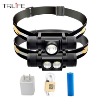 Waterproof USB CREE XM L2 T6 LED Headlamp Headlight Bicycle Torch Head Flashlight Led Bike Light