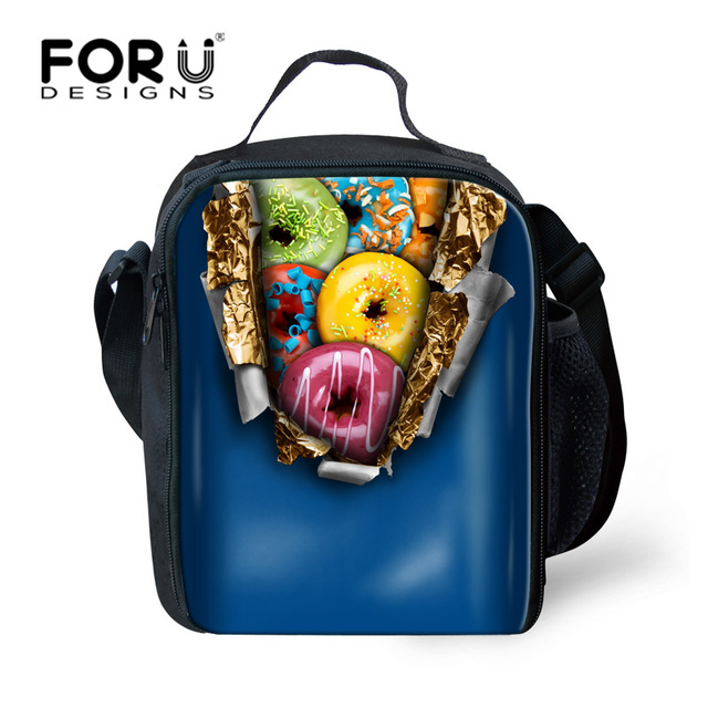 FORUDESIGNS Portable Lunch Bag Women Thermal Bag Candy Color Adult Lunchbox Travel Picnic Bag for Girls Kids Thermal Food Bags