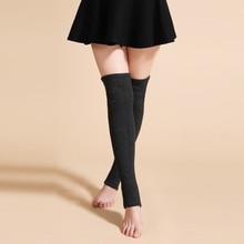 Новый LY Дизайн Для женщин зимние теплые однотонные Гетры шерсть Вязание гетры осень рябить отделкой Гетры загрузки Топпер Носки