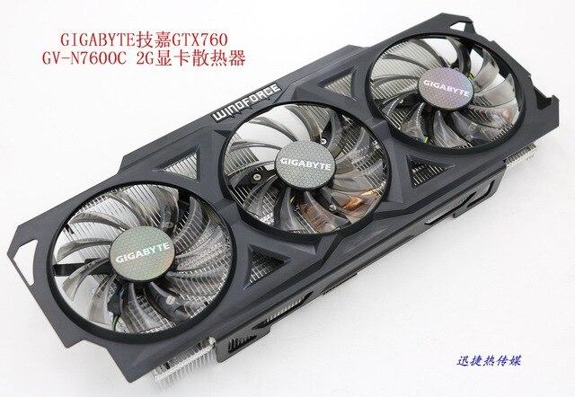 新オリジナルギガバイト GTX760 GV-N760OC-2G グラフィックスカードクーラーファンとヒートシンク
