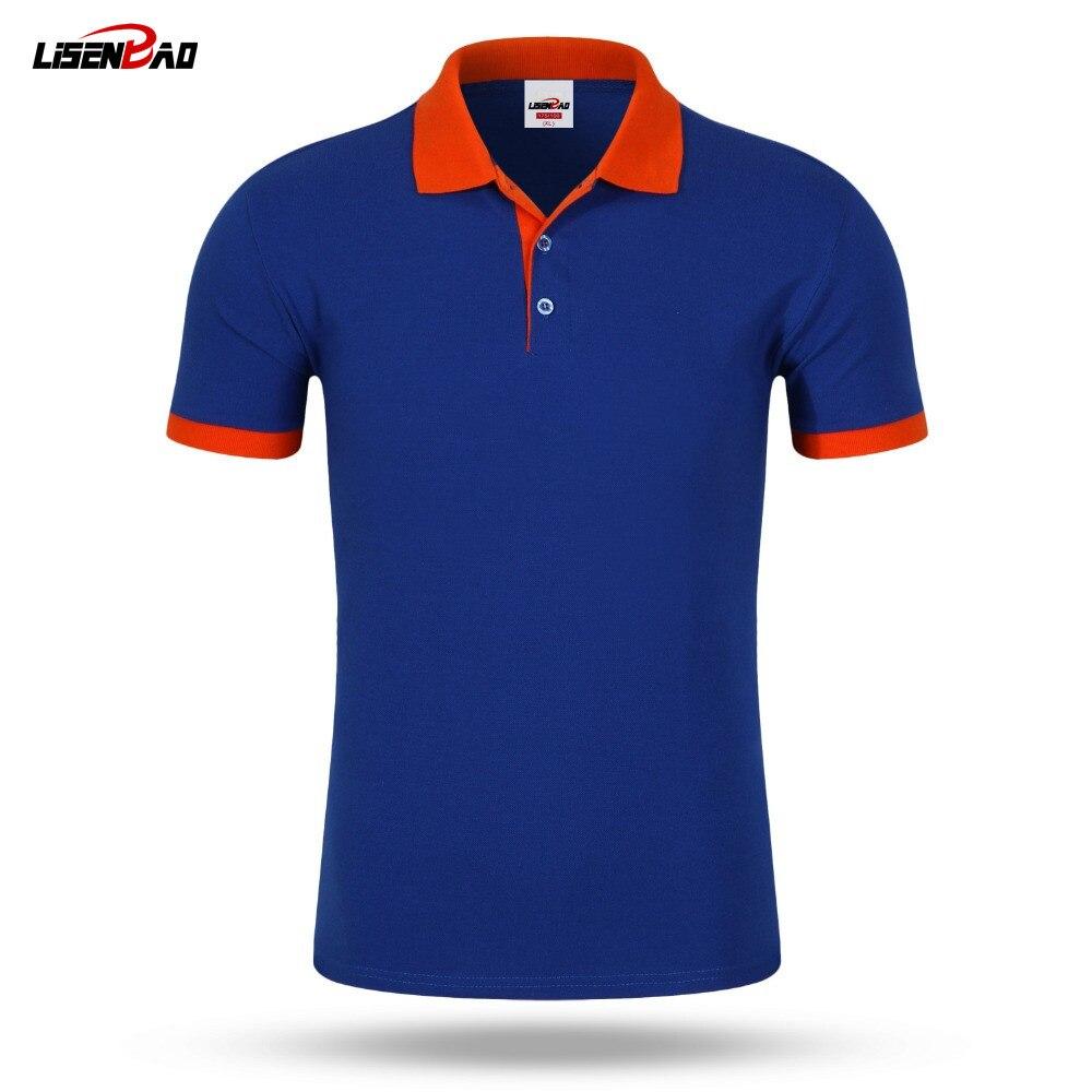 Accepter personnalisé bricolage logo Nouveau 2016 Polo Shirt Pour Hommes Designer Polos Hommes Coton Hommes lâche Maillots À Manches Courtes polo chemises t