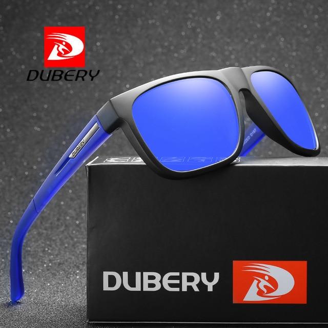 70dbed3b5b076 DUBERY Sunglasses Men s Polarized Driving Shades Sun Glasses For Men Square  Color Mirror Luxury Brand moda hombre 2018 UV400