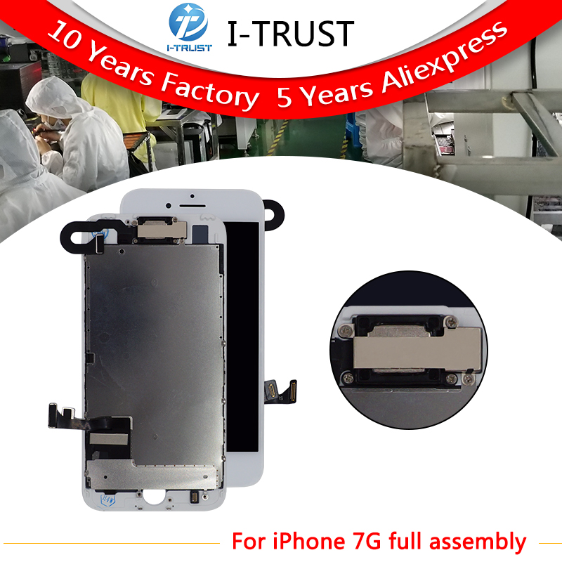 10 pcs lot Complete Glass Touch Screen Digitizer LCD Assembly Replacement For iPhone 7 7G Front