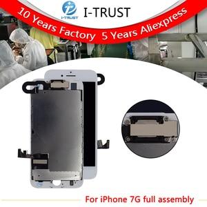 Image 1 - 10 pcs lot Completa Tela de Toque de Vidro Digitalizador & LCD Substituição Assembly Para o iphone 7 7g & Câmera Frontal frete grátis DHL