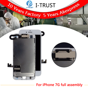Image 1 - 10 pcs lot Complete Glass Touch Screen Digitizer & LCD Assembly Replacement For iPhone 7 7G & Front Camera Free DHL shipping