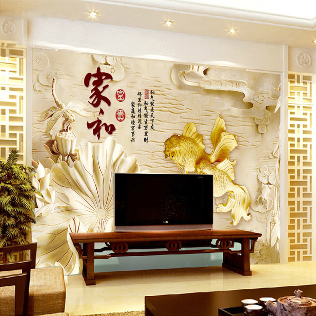 aliexpress : buy chinese retro style flower wall murals modern