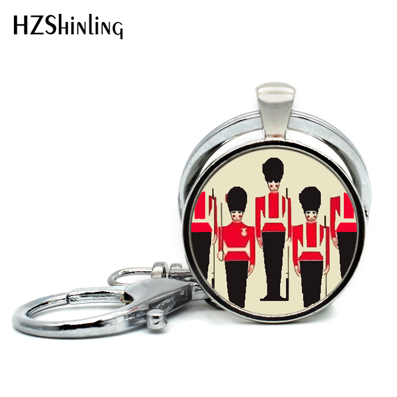 2017 New Trendy Queens Guard London England Travel Keychain United Kingdom Royal Guards Keyring for Car Accessories