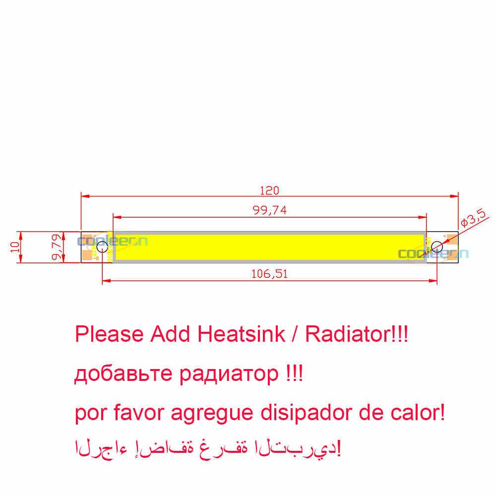 4.72in 120 مللي متر COB LED لمبة قطاع شريط أضواء 12 فولت 10 واط LED مصباح للسيارة إضاءة المنزل لتقوم بها بنفسك دافئ كول أبيض أحمر أخضر أزرق الألوان