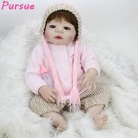 Pursue 22 55cm Silicone Reborn Baby Dolls Alive Lifelike Real Dolls Realistic Bebe Reborn Babies Girl