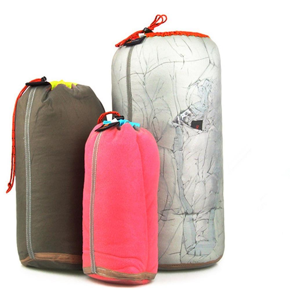 Ultralight Portable Drawstring mesh Stuff Sack Storage Bag for outdoor Sports Traveling Camping hiking S M
