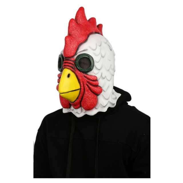 Coslive Game Hotline Miami Cock Mask Latex Full Head Cosplay Mask for Halloween Carnival Hotline Miami Cosplay Costume Prop