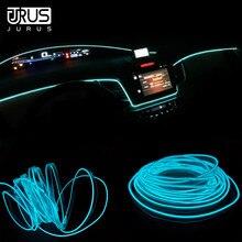JURUS 5 м интерьер автомобиля свет Bmbient огни EL, неон светодиодные ленты холодной линии декоративная приборная панель лампа 12 В Авто прикуриватели инвертор