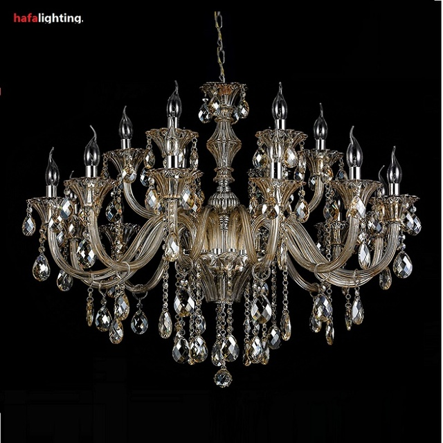 Free shipping Crystal Lighting Large Chandelier 18 Lamp Crystal Lights Hotel Light crystal Chandelier Large bedroom Living room