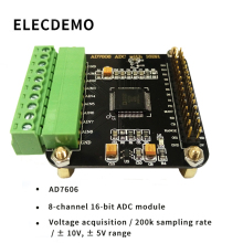 лучшая цена AD7606 Module Multi-channel AD Data Acquisition Module 16-bit ADC 8-channel Synchronization Sampling Frequency 200KHz