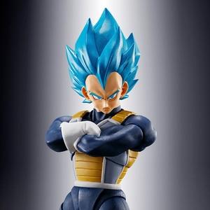 Image 4 - Оригинальная экшн фигурка Tronzo Bandai tamasii, шар Dargon Ball Super Vegeta SHF SSJ, синий, красный, ПВХ