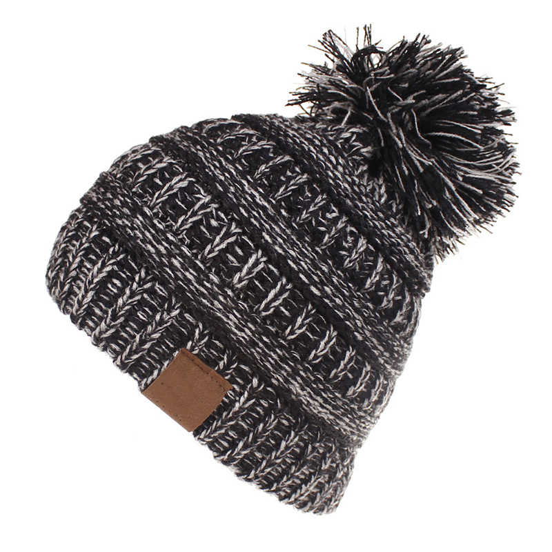 9aba92986 Kids Pom Pom Hats Beanie Knitted Hat Baby Boy Girls Winter Warm Toddler Cap  Candy Color Skullies Beanies Hats