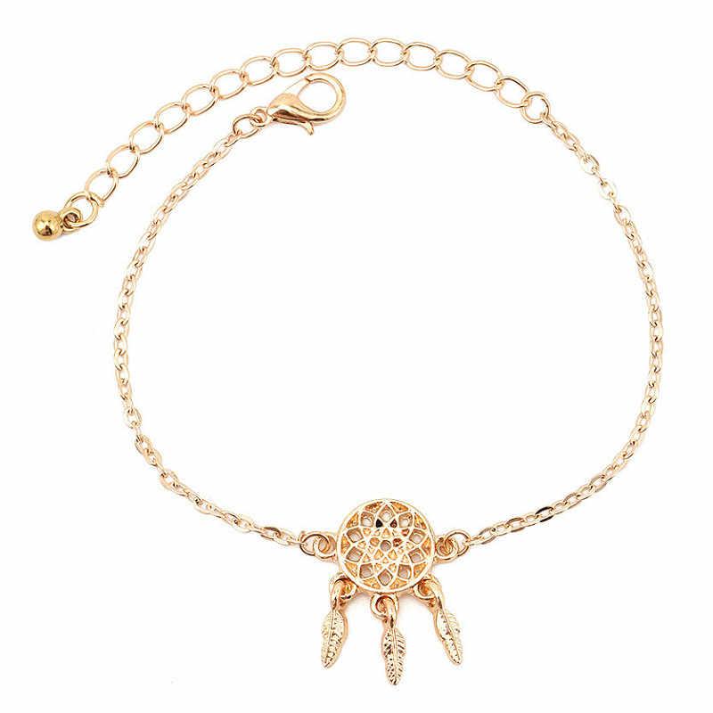 3 יח'\סט אופנה נשים זהב Bowknot לב לוכד חלומות קריסטל פתיחת צמיד נשים אישיות מבריק תכשיטי מתנה