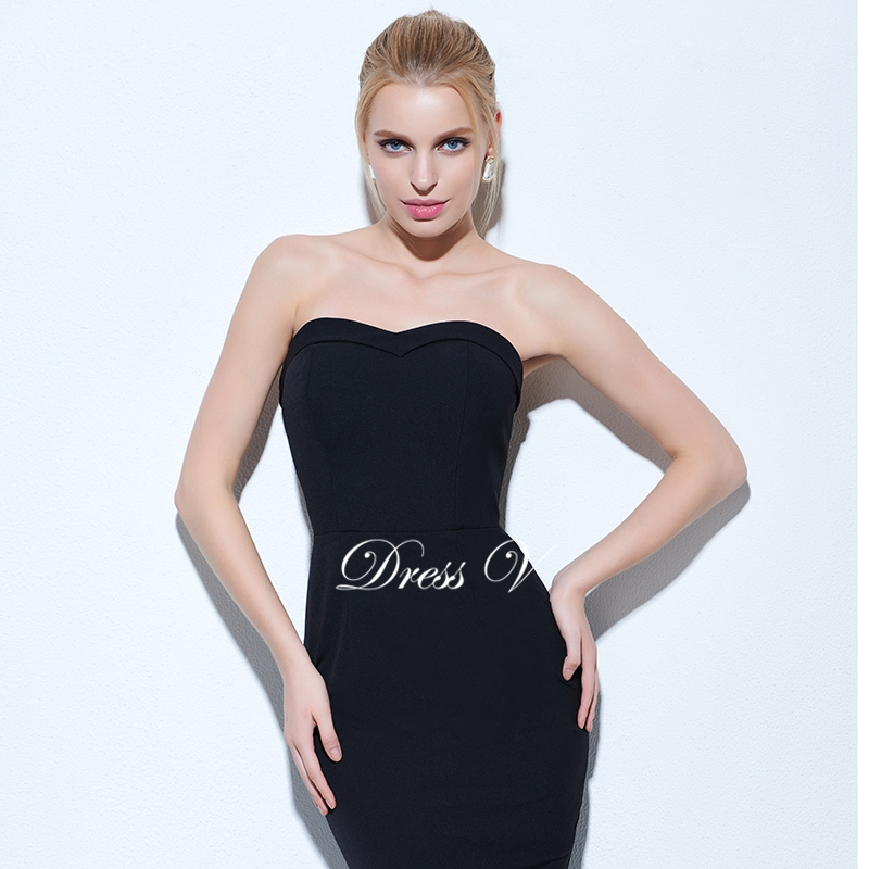 Weddings & Events Beautiful Dressv Green Strapless Cocktail Dress Sheath Above Knee Length Sleeveless Zipper Up Elegant Cocktail Dress Formal Party Dress