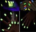 Resplandor luminoso en polvo, esmalte de uñas DIY, super brillante polvo fluorescente luminoso pintura DIY material, polvo Noctilucentes 10 gr/lote